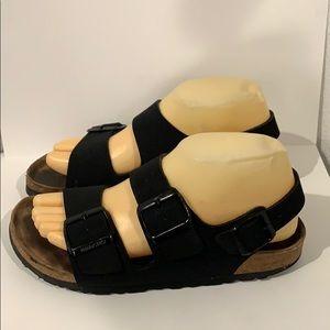 Auth Birkenstock black birkoflor vegan sandals 7